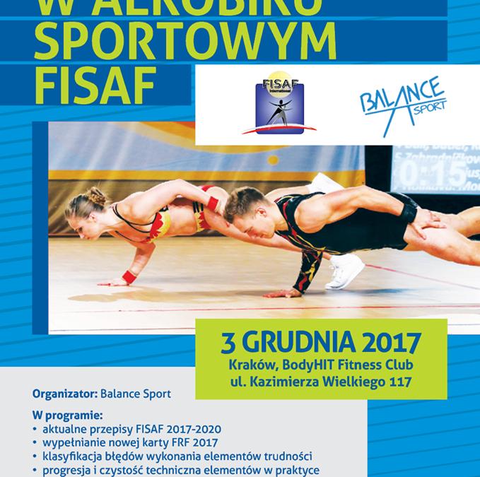 Szkolenie w aerobiku sportowym FISAF